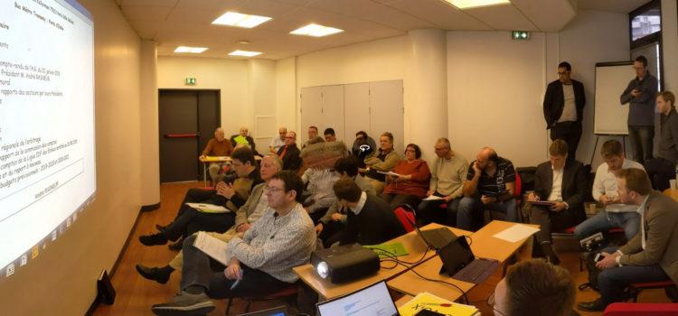 Notre équipe présente aux assemblées de ligue d'Auvergne-Rhône-Alpes, Île-de-France et Pays de la Loire