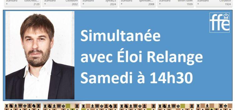 Animation confinement : simultanée d'Eloi pour la FFE