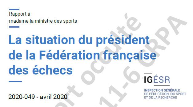 Rapport de l'IGÉSR sur la situation du président de la FFE